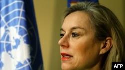 Зигрид Кааг, глава специальной миссии Организации по запрещению химического оружия и ООН по ликвидации химического арсенала.