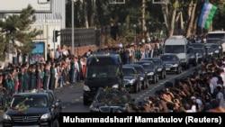 Церемония прощания с Исламом Каримовым в Ташкенте