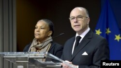 Francuska ministrica pravde Christiane Taubira i ministar unutrašnjih poslova Bernard Cazeneuve