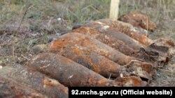 Взрывоопасные предметы, найденные в Севастополе