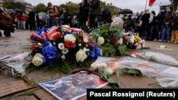 Акция памяти Самюэля Пати, Лилль, Франция, 18 октября 2020 года.