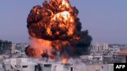 Pamje nga një eksplodim në Siri