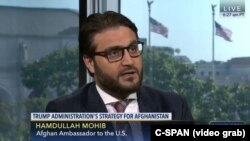 """It couldn't have been any better than what we were expecting,"" said Hadullah Mohib, the Afghan ambassador to the U.S., on C-SPAN of U.S. President Donald Trump's policy announcement on the war in his country."