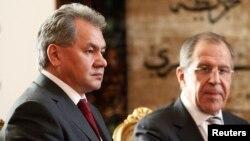 Sergei Shoigu və Sergei Lavrov