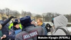 Акции против внесения поправок в Конституцию России в Петербурге, 1 февраля 2020 года