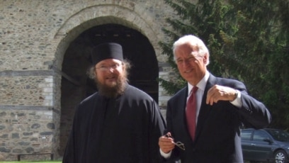 Otac Sava Janjić i bivši potpredsednik SAD Džo Bajden