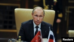 Президент России Владимир Путин во время визита в Анкару, 1 декабря 2014 года.