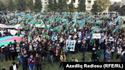 Ադրբեջան -- Ընդդիմության հանրահավաքը Բաքվում, 9-ը նոյեմբերի, 2014թ․