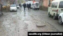 Разбитые дороги в городе Коканде.