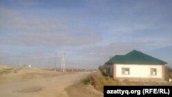 «Мемлекет мұқтаждығына қажет» деп танылған Үмітгүл Әлмағамбетованың үйі. Қызылорда қаласы, 25 қазан 2014 жыл.