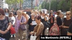 Roditelji nestalih beba na protestu u Beogradu 17. maja 2018.