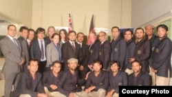 Nasir Andisha (C) with the Afghan cricket team