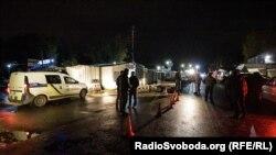 Поліція на місці нападу на Аміну Окуєву на Київщині, 30 жовтня 2017 року