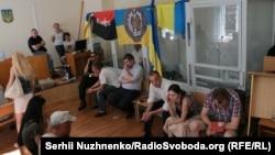 Ситуация в зале Печерского райсуда по состоянию на утро субботы, 2 июля