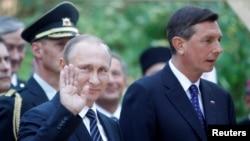 Vladimir Putin i Borut Pahor na Vršiču, Slovenija, 30. srpnja 2016.