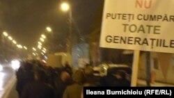 Demonstranți la Alba Iulia