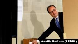 Франсуа Олланд голосует на выборах. 7 мая, 2017 года