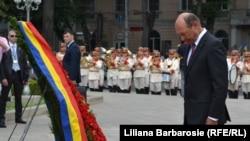 Traian Băsescu la Chișinău, 17 iulie 2013.