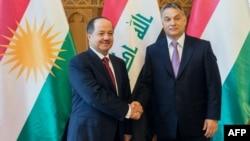 رئيس وزراء هنغاريا مستقبلاً رئيس إقليم كردستان العراق مسعود بارزاني