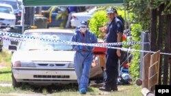 Австралия полицейлері қылмыс болған жерде. 19 желтоқсан 2014 жыл. (Көрнекі сурет)