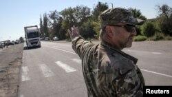 Чонгар, административная граница с Крымом, 20 сентября 2015 года