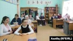 Ученики средней школы в Крыму.