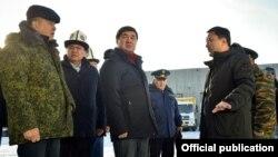 Премьер-министр Мухаммедкалый Абылгазиев Нарын облусунда.