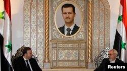 رییس پارلمان سوریه در دیدار با محمد جواد ظریف، وزیر خارجه ایران