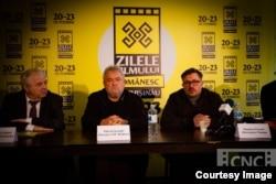 La deshiderea Zilelor Filmului Românesc la Chișinău: Valeriu Matei (ICR), Valeriu Jereghi și Dumitru Grosei