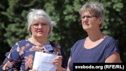 Ларыса Жыгар і Тацьцяна Канеўская на адной з акцый за зьмякчэньне антынаркатычнага заканадаўства