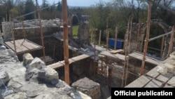 არქეოლოგიური გათხრები ხობის მონასტრის ეზოში