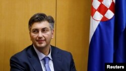 Архива - Хрватскиот претседател на владата Андреј Пленковиќ.