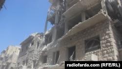 Так выглядят после бомбардировок восточные районы Алеппо, октябрь 2016 года.