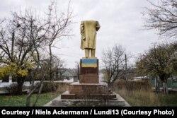 Один из памятников Ленину на Украине. Точнее, то, что от него осталось