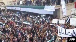 Демонстрация протеста в сирийском городе Хама