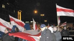 Марш за незалежную Беларусь у Варшаве.