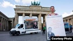 Berlinda Solijon Abdurahmonov ozod qilinishi talabi bilan o'tkazilgan protest.