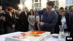 Премиерот и претседател на ВМРО - ДПМНЕ, Никола Груевски на одбележување на 25 годишнината од основањето на партијата.