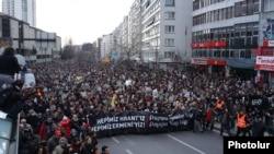 Демонстрация в память о Гранте Динке в Стамбуле. 19 января 2012 года