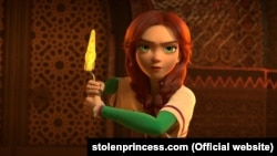 Кадр з мультфільму «Викрадена принцеса: Руслан і Людмила»
