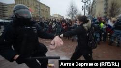 Стычки с полицией в Москве