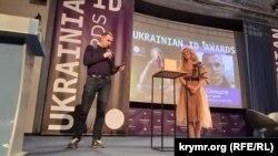 Олег Сенцов на вручении премии Ukrainian ID Awards