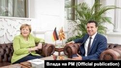 Foto nga takimi Merkel-Zaev