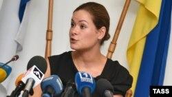 Мария Гайдар на пресс-конференции в Одессе. 22 июля 2015 года.