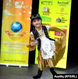 Халыкара фестивальдә җиңгән 4 яшьлек Юлия Гафурова
