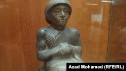 تمثال يعود للحقبة السومرية في متحف السليمانية