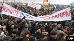 As many as 10,000 people rallied in Kaliningrad in January.