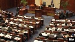 Министерот за финансии Зоран Ставрески зборува за собраниска седница за ребаланс на буџетот