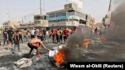 د عراق د مظاهرو یو انځور