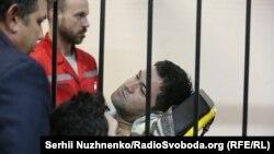 Роман Насіров у залі суду на ношах, 4 березня 2017 року